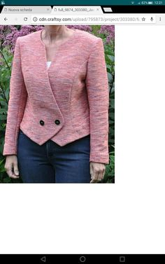 55 Trendy Sewing Projects For Women Dresses Classy Blazer Jackets For Women, Coats For Women, Clothes For Women, Trajes Business Casual, Traje Casual, Tailoring Techniques, Professional Wear, Jacket Pattern, Blazer Pattern