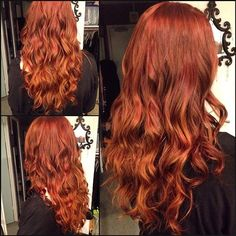 Hair, copper hair with highlights, copper red hair, hair color highligh Copper Hair With Highlights, Copper Red Hair, Hair Color Highlights, Red Hair Color, Color Red, Copper Ombre, Copper Color, Balayage Hair, Ombre Hair