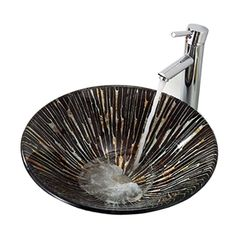 Modern Round Tempered Glass Sink (Faucet Not Included)