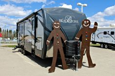 Mr & Mrs Gingy are heading back to the Cookie Jar Pre-school.....but before they left, they couldn't resist checking out the great deals on RVs! Nothing Crummy about it!  Stop in and check them out for yourselves :) http://rv.edwardsrv.ca/ #camping #TravelTrailer #RV #OutdoorsRV