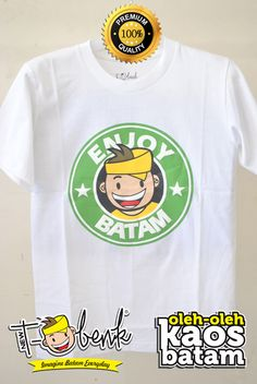 Enjoy Batam Putih • Premium Quality • IDR 129000 • Official T-Shirt Merchandise from Batam City