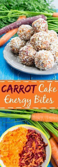Carrot Cake No Bake Energy Bites with Cinnamon #vegan #carrotcake