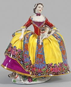 Lady of the Order of the Pug, Meissen, most likely mid 1740s.