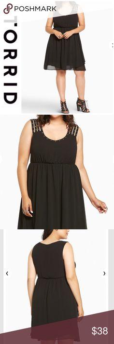 873494ee1ac1 Studded Strappy Chiffon Dress NWT! Torrid size 3 (
