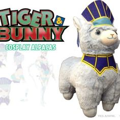 Tiger & Bunny Llama Plush Llama Plush, Rose Online, Tiger And Bunny, Fluffy Coat, Candy Colors, Teddy Bear, Hero, Cosplay, Crafts