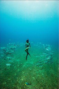 ululemon | wanderlust oahu: a moment with freedive spear fisherwoman kimi werner
