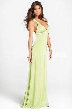 Elegant A-line V-neck Floor-length Evening/Prom Dresses