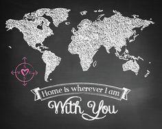 Carte du monde page d'accueil est partout où je par DarkAndTwisted