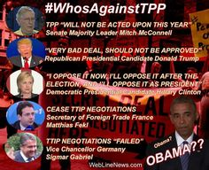 On Massive Trade Deals TPP and TTIP, Barrack Obama May Be The Last Supporter