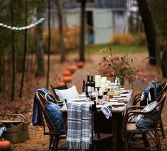 TheWindyLilac.com-Sharing All Things Home-Autumn-AutumnDecorating, Autumn Decor, Autumn Porches and Patios, Autumn Outdoors.  All Things Autumn!Diner outside. So cozy