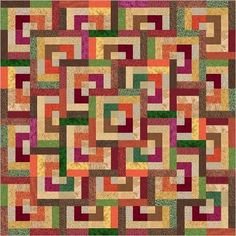 Quarter Log Cabin Tutorial                                                                                                                                                                                 More Log Cabin Quilt Pattern, Log Cabin Quilts, Quilt Block Patterns, Jelly Roll Quilt Patterns, Log Cabins, Quilt Blocks, Scrappy Quilts, Mini Quilts, Baby Quilts