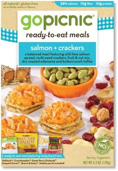 GoPicnic Ready-to-Eat Meals Salmon &...