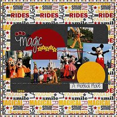 Magic, Disney Scrapbook layout