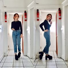 More looks by Paula Gallagher: http://lb.nu/girlwhowearshats  #edgy #grunge #vintage #levis #vintagelevis #platforms #tuk #90s