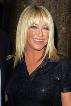 Pin for Later: Strong and Courageous: Celebrity Breast Cancer Survivors Suzanne Somers Medium Hair Styles, Natural Hair Styles, Short Hair Styles, Beautiful Women Over 50, Suzanne Somers, Golden Blonde Hair, Very Long Hair, Layered Haircuts, Brazilian Hair