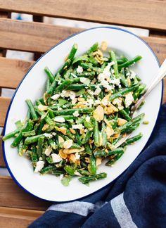 This green bean salad recipe is epic! Learn the best way to cook green beans, and get the recipe at cookieandkate.com