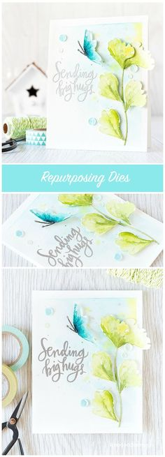 Repurposing dies - turning the Tattered Poppy die set in to a butterfly and ginkgo stem. Find out more by clicking the following link: http://limedoodledesign.com/2015/10/repurposing-dies/