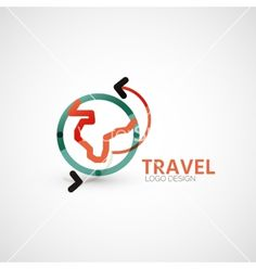 Travel company logo business concept vector by antishock on VectorStock®