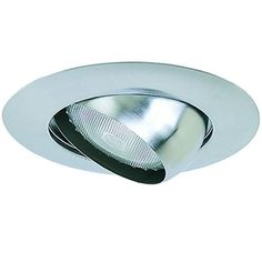 6in Line Voltage Recessed Lighting Trim with Eyeball for Sloped Ceilings