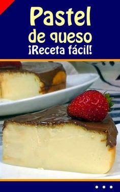 Pastel de #queso. ¡Receta fácil! #pastel #cheesecake #receta #fácil