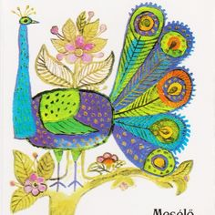 pava Folk Art, Graphic Art, Birds, Fancy, Journalling, Cool Stuff, Artwork, Image, Work Of Art
