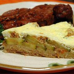 Bread Crust Zucchini Quiche - Allrecipes.com