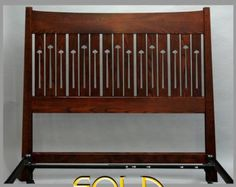 Arts and Crafts, Mission, Queen Headboard and Metal Frame  ASH
