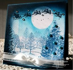 Clear Blue Skies for Santa CARD