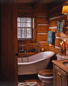 cute cabin bath