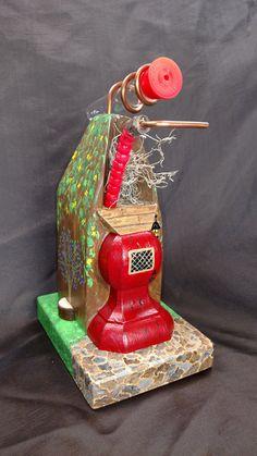 House in the woods hummingbird feeder by ParrtclrHummingbird