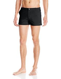 e2f51b659b parke ronen Mens Angelino Solid Stretch Swim Trunk Houston RedStone 30 ***  Clicking on the VISIT button will lead you to find similar swimwear