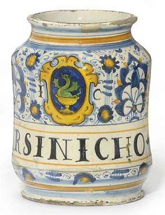 19tes Jahrhundert Antiquitäten & Kunst Albarello Italien Montelupo Alte Berufe