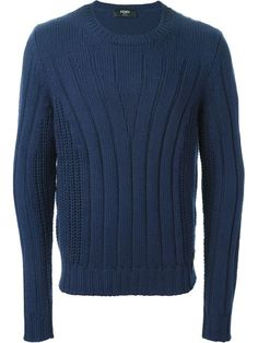 Shop Fendi ribbed knit sweater in Stefania Mode from the world's best independent boutiques at farfetch.com. Over 1000 designers from 60 boutiques in one website.
