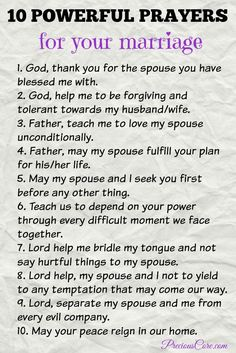 Prayers for your marriage - Precious Core