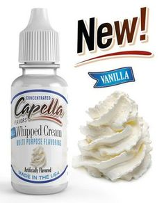 Capella Flavors: A unique line of water soluble, highly concentrated, multi-purpose flavoring. Enjoy deep aroma, dense concentration and unparalleled taste. E Juice Recipe, Flavor Drops, Low Calorie Drinks, Vanilla Whipped Cream, Vegan Friendly, Low Carb Recipes, Sugar Free, Easy, Food