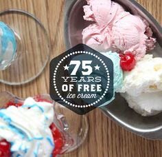 In celebration of our 75th anniversary, one lucky Guernsey fan will be the world's first recipient of 75 years of free ice cream through the Guernsey Lifescream Giveaway. Grab your spoon, because 3,900 48 oz. cartons could be yours. Everyone has the chance to win the grand prize, and everyone has the chance to win a pint.  Starting now, you'll be able to pick up specially marked packages of Guernsey ice cream with a code that functions as your key to entry…