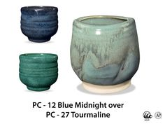 Tourmaline is an intense, opaque blue-green glaze that forms a smooth, strong surface. Goes well layered with other potters choice glazes!  Due to the powdered nature of the materials involved with the dry-mix dipping buckets of this product, their respective health information and labels differ from the brushing glazes.