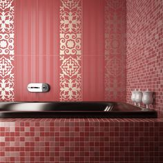 1000 images about colorful bathrooms on pinterest ceramic wall tiles concorde and ceramics - Piastrelle bagno rosa ...
