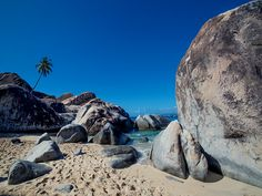 The Baths at Virgin Gorda, British Virgin Islands.