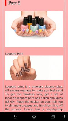 Manicure Manual is a great and absolutely free application! It is a manicure tip guide. It contains a lot of information about manicure tips at home and nails supply! Manicure Manual will help you to learn how to do manicure at home!<p>Manicure Manual is a must-have of every woman who do not have enough free time to go to nails salons! All the necessary information about nails salon designs is in your device! All the different manicure tips are gathered in this amazing application…