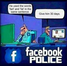 My Facebook Profile Facebook Jail Jail Meme Cartoon Jokes Conservative Politics