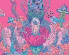 As surreais, psicodélicas e bizarras ilustrações de Bang Sangho