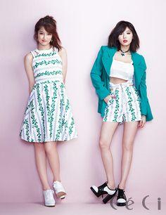 4Minute - Ceci Magazine April Issue '14 #4minute #ji hyun #hyun ah