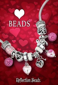 Show your love all year long with Reflection Beads! Shop our huge selection of Valentine's Day charms and beads > #ValentinesDay #beads #gifts