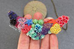 Rainbow Corals Necklace - Click Image to Close