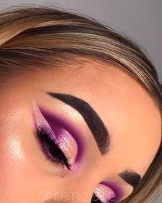 Purple Makeup Looks, Purple Eye Makeup, Makeup Eye Looks, Colorful Eye Makeup, Eye Makeup Art, Eyeshadow Looks, Glam Makeup, Pretty Makeup, Skin Makeup
