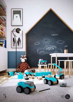 kids room Choosing Chalkboard Wall Playroom Is Simple 1 thing it is possible to guarantee with a playroom you can never have sufficient storage! The playroom is far more than merely a locati Kids Wall Decor, Playroom Decor, Playroom Ideas, Kid Playroom, Play Room Kids, Baby Room Wall Decor, Playroom Design, Kids Room Design, Bedroom Themes