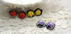 One-minute Craft: Make Gorgeous Dangle Earrings with Polymer Clay Flower Beads Step by Step