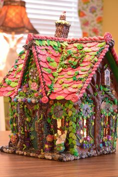 ONCE UPON A TIME Wood Wired Gingerbread House by cathypagedaniel