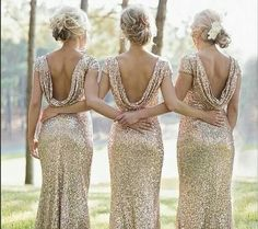 Bridesmaids dresses. nobody ever said too much sparkle!